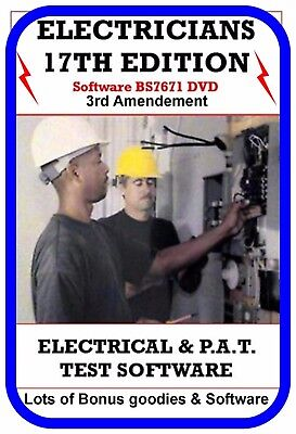 Electrical & Pat Testing Certificates Software 17th Edition EICR 3rd Amend 2015