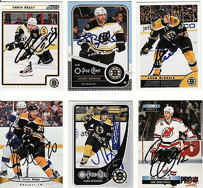 ADAM McQUAID, BOSTON BRUINS, RARE AUTO'D/SIGNED NHL CARD.