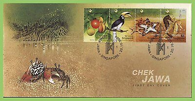 Singapore 2004 Wildlife of Chek Jawa set on on First Day Cover