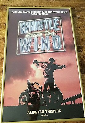 Whistle Down the Wind Original Promo Theatre Poster 1989 Andrew L Webber Musical