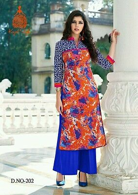 Us Seller Women Indian/bollywood Cotton Kurti/kurta/tunic/top Long Ethnic L/xl