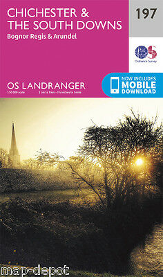 CHICHESTER & THE SOUTH DOWNS LANDRANGER MAP 197 - Ordnance Survey - OS  NEW 2016