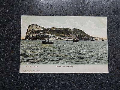 Early Postcard  - Rock from bay with boats - Gibraltar