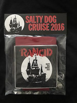 Rancid Salty Dog Cruise 2016 Button Sticker Koozie Pack NEW!