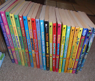25 Goosebumps Ghosts of Fear Street -R L Stine Books-1-17,,19,24,25,27,35