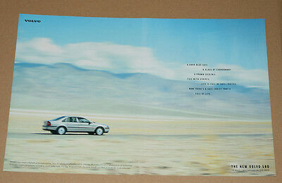 Volvo S80 - Car Advert 1998 Original Poster Ephemera - Great To Frame