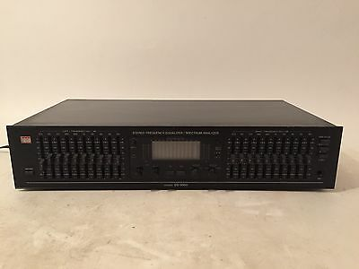 BSR EQ-3000 10 Band Graphic Stereo Equalizer & Spectrum Analyzer Tested -WORKING