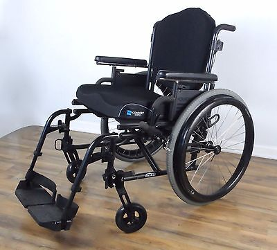 Quickie-2 wheelchair - Jay J3 back, Natural Fit wheels, like tilite - 18x19