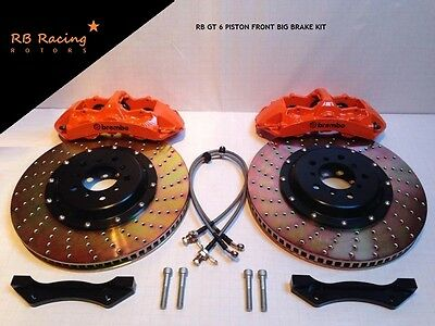 380mm GT 6 Piston Big Brake Kit Brembo Spec Audi RS3 RS4 RS5 RS6 RS7 R8 TTRS ALL