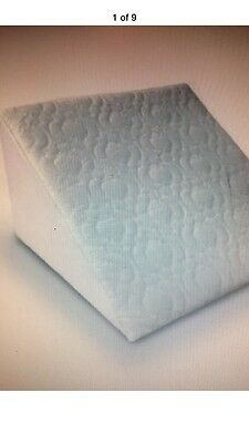 Foam Bed Wedge Pillow Support Comfort MULTI PURPOSE, Quilted White Cover