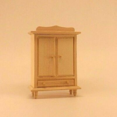 Craft and dollhouse miniature furniture Unfinished Wood Pine Bedroom Set