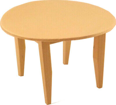 Unfinished Wood Pine Round Kitchen Table (Dollhouse Kitchen Miniatures)
