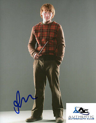 Rupert Grint Autograph Signed 8X10 Photo Harry Potter Coa