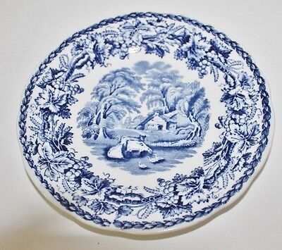 """VTG Booths Blue and White """"British Scenery"""" Bread Plate - 6 3/4"""""""