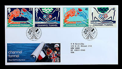Great Britain Sc# 1558-61 Royal Mail First Day Cover Channel Tunnel 3 May 1994