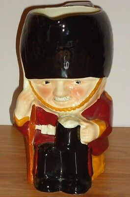 "GUARDSMAN ceramic PITCHER 6.5""H made in England"