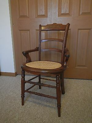 Antique caned-seat dining chairs  in very good condition (set of 6)