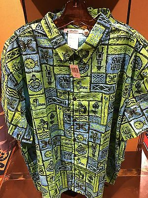 Disney Polynesian Trader Sams Grog Grotto Enchanted Tiki Room Hawaiian Shirt XXL