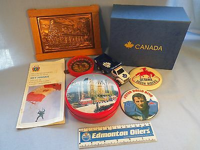 Canada Junk Drawer Lot Nice Collection Pins, Tins and more LOOK!! Canadiana
