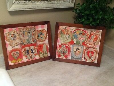 Vintage Antique 1920s 30sValentine's Day Card Lot of 12 Flapper Girls COLLAGE