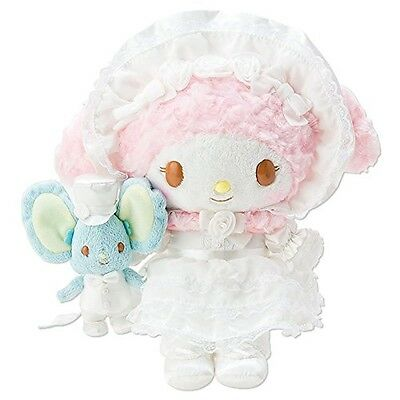 NEW Sanrio My Melody Plush Doll Flat Mouse Set Lace Free Shipping with Tracking