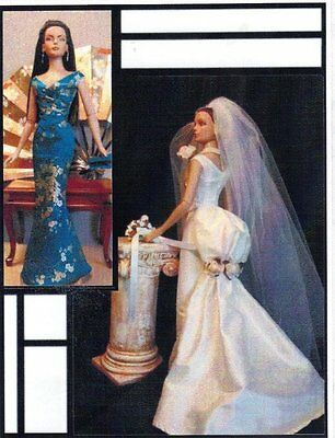 """Pattern for Fashion doll Tyler wedding dress & evening gown 15.5 -16"""""""