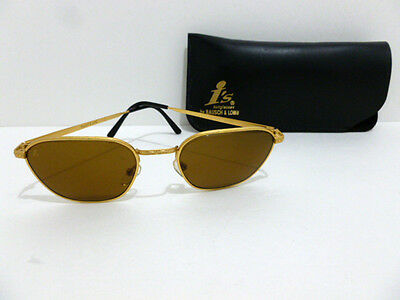 Sunglasses I's By B&l ( Gold/metal) Authentic W1835 High- Quality Vintage 6235