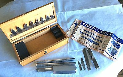 Vtg1940-50's X-Acto Hobby Knife Set Wood Box Carving Tool With Rare Price Guide