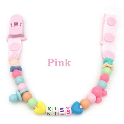 Toddler Baby Hand Made Dummy Pacifier Clip Chain Holder Soother Nipple Strap Hot