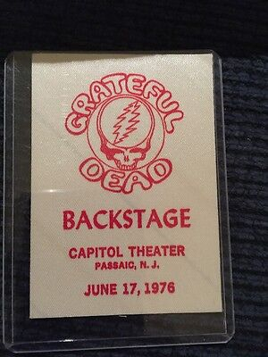 Grateful Dead Backstage Pass June 17,1976 Capital Theatre Passaic, NJ