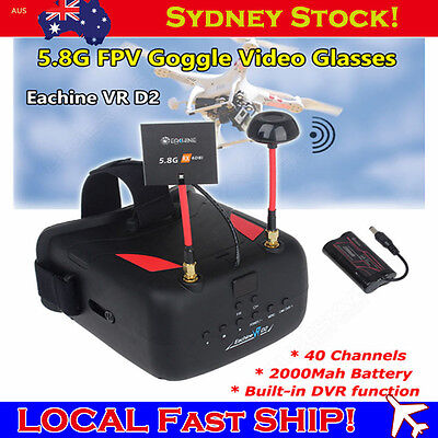 AU Eachine VR 5.8G 40CH FPV Goggles Glasses Video Monitor for Racing Drone Quad