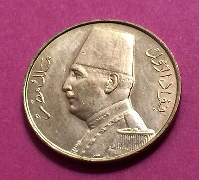 EGYPT- RARE 1/2 MILLIEME COIN ,KING FUAD AD 1932( AH1351)......aUNC CONDITION.