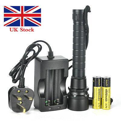 12000Lm 3xXM-L2 LED Diving Flashlight Waterproof Torch 2*18650 Underwater 80M UK