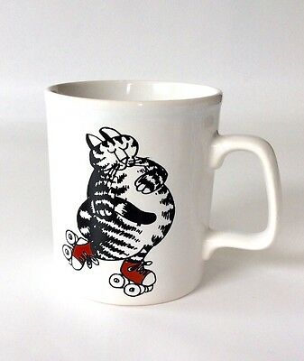 VERY RARE Vintage B. Kliban Cat Red Sneakers Mug Kiln Craft England Kitty