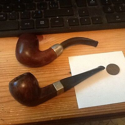 2- VINTAGE FRANCE/HALLMARKED,LONDON/HALLMARKED Collector Smoking Pipes  lot 29A