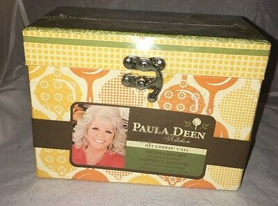 Paula Deen Kitchen Recipe Card Box with 8 Tab Dividers Studio 18 2010