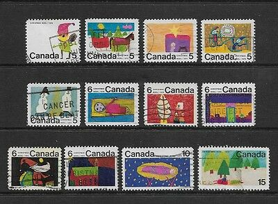 CANADA - 1970 Christmas, set of 12, used