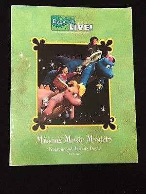 Dragon Tales Live! Missing Music Mystery Souvenir Program