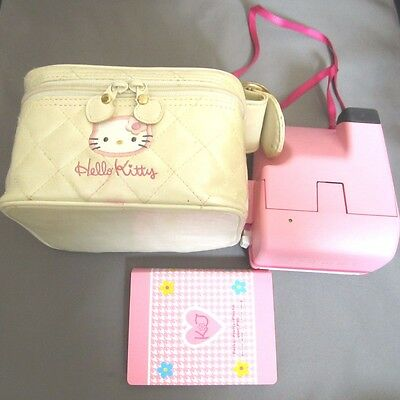 Rare Sanrio Hello Kitty Instant Polaroid Camera 600 & Photo Album From Japan F/S