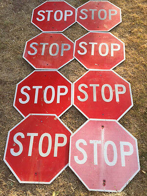 "STOP Real Road Street Sign, Measures 24"" X 24"""