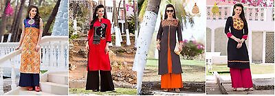 Us Seller Women Indian/bollywood Cotton Kurti/kurta/tunic/top Long Ethnic L, Xl