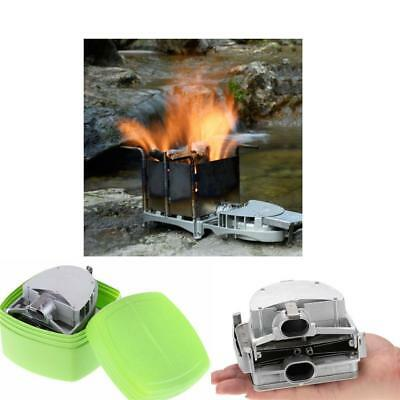 Outdoor Camping Hiking Survival Wood Burning Stove Heater Furnace USB Fan