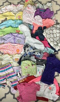 lot of 30 Newborn Baby Girls Clothes Carters 0-3 months gap juicy Columbia nike