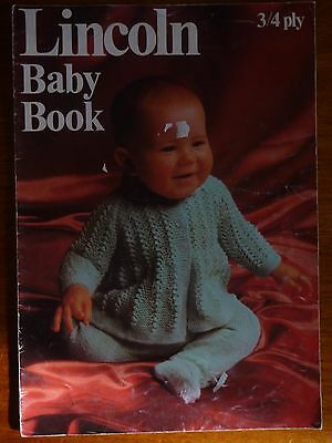 Lincoln Baby Knitting Pattern Book 3 & 4 Ply Jacket Jumper Leggings Shawl