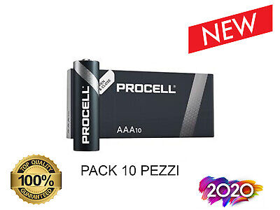 10 Batterie Duracell Industrial Procell Pile Alcaline Mini Stilo AAA