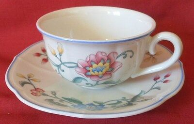 Villeroy & Boch Cup and Saucer, Delia Design, New, Unused, 2 Available
