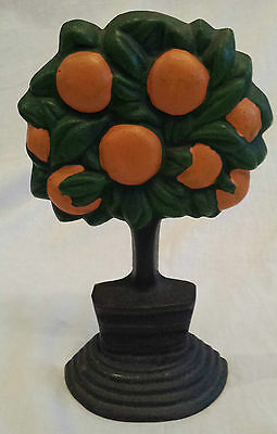 Decorative Heavy Cast Iron Orange Tree Door Stop
