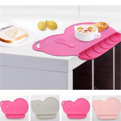 One-piece Silicone Mat Baby Kids Suction Table Food Tray Placemat Plate FW