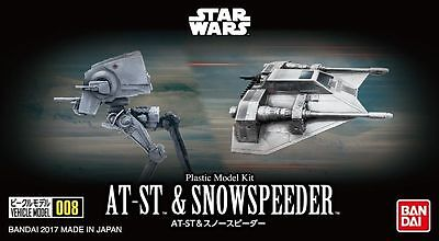 AT-ST & Snowspeeder Set Modellbausatz von Bandai, Star Wars Vehicle-Serie 008