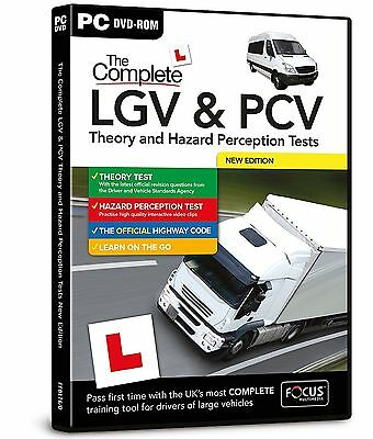 The Complete LGV & PCV Theory & Hazard Perception Tests |  PC DVD CD | 2017
